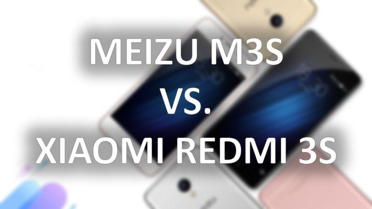 Meizu M3S против Xiaomi Redmi 3S