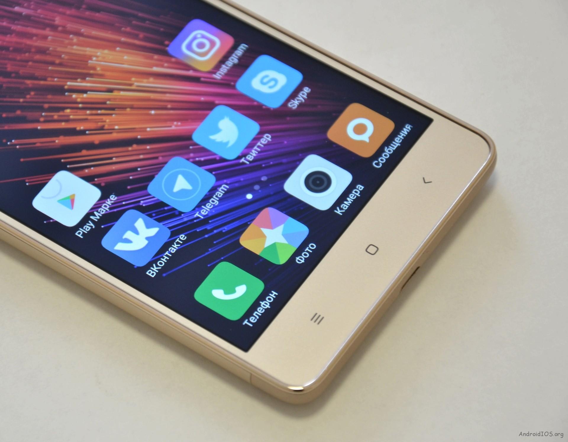 Xiaomi Redmi 3S кнопки