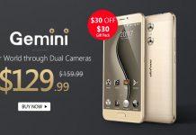 Смартфон Ulefone Gemini с двойной камерой за $129,99
