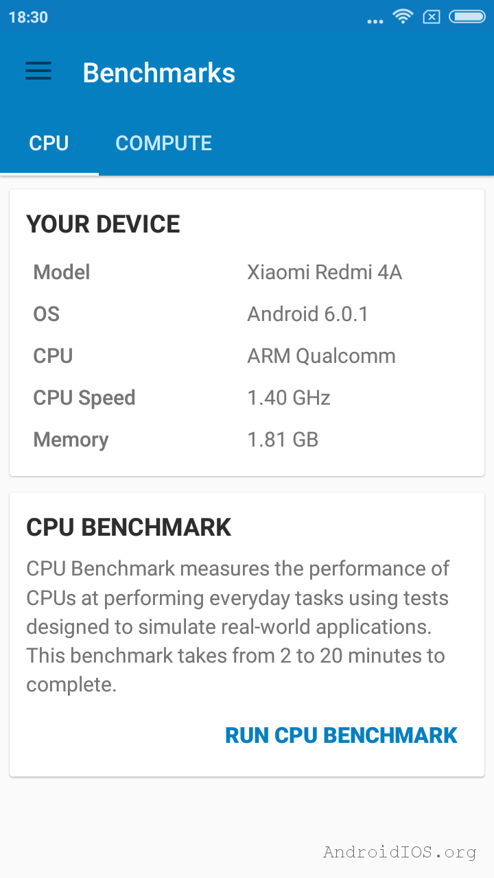 тест Xiaomi Redmi 4a в geekbench 4