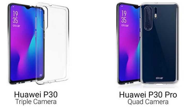 Рендер Huawei P30 Pro показывает массив камер на задней панели