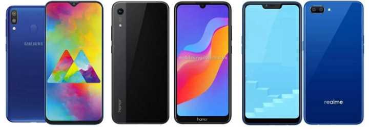 Samsung Galaxy M10 против Honor Play 8A и Realme C1